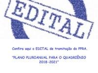EDITAL DE TRAMITAÇÃO DO PPRA