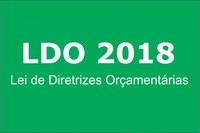 LEI DE DIRETRIZES ORÇAMENTARIAS para o exercício2018